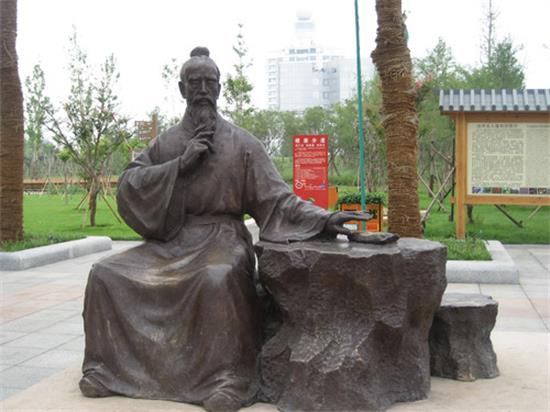 沧州市名人植物园雕塑崭新亮相