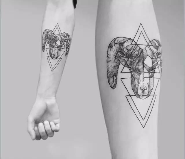 摩羯纹身图片