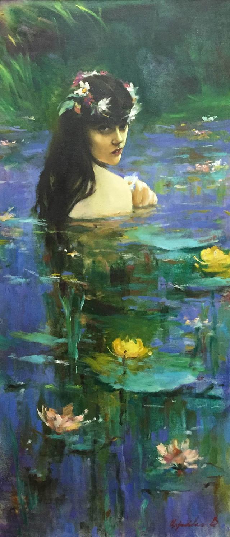 叶戈尔·巴塔仑诺克《湖中少女》正在艺典中国预展,即将开拍.图片