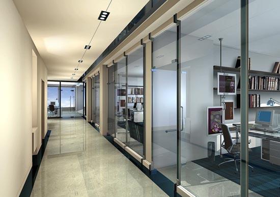 2,封闭式办公室布局设计图片