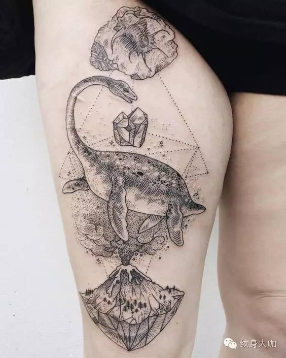 纹身素材:恐龙