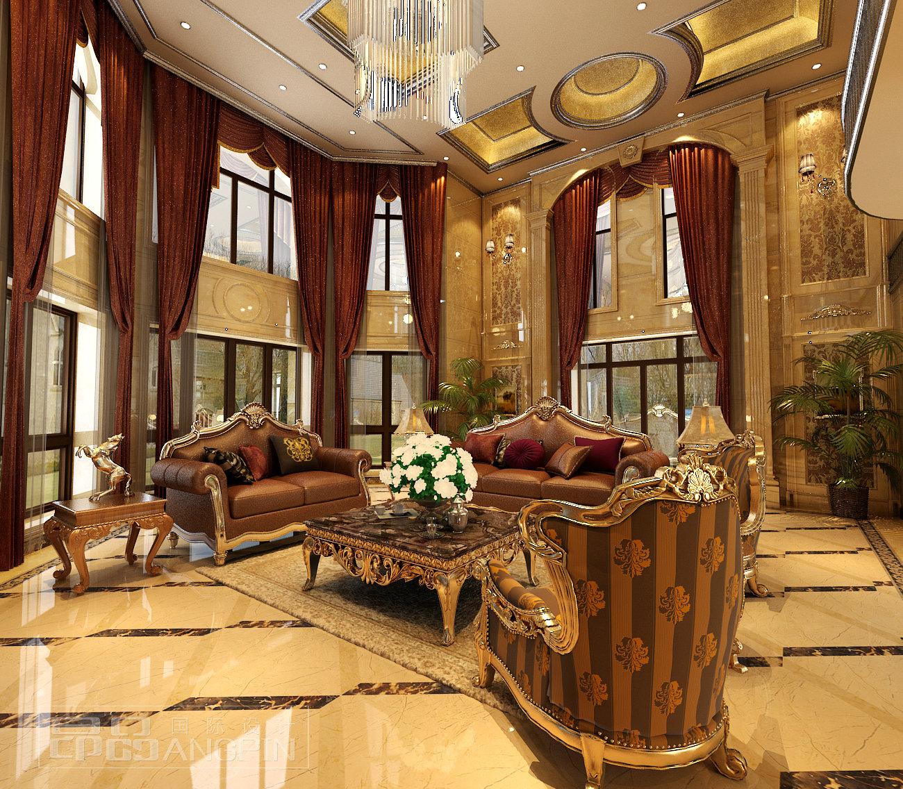 贵阳弘宇琉森堡别墅,欧式风格豪华装修设计案例!