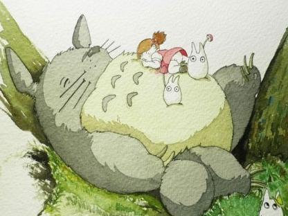 手绘彩铅教程之龙猫的绘制过程