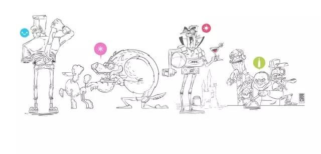 黑白卡通手绘气球