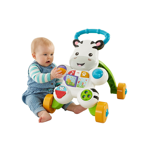 重回史低 Fisher Price 费雪 Zebra Walker 小斑马造型婴儿学步车 海淘