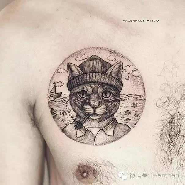 最有创意的猫咪可爱纹身!