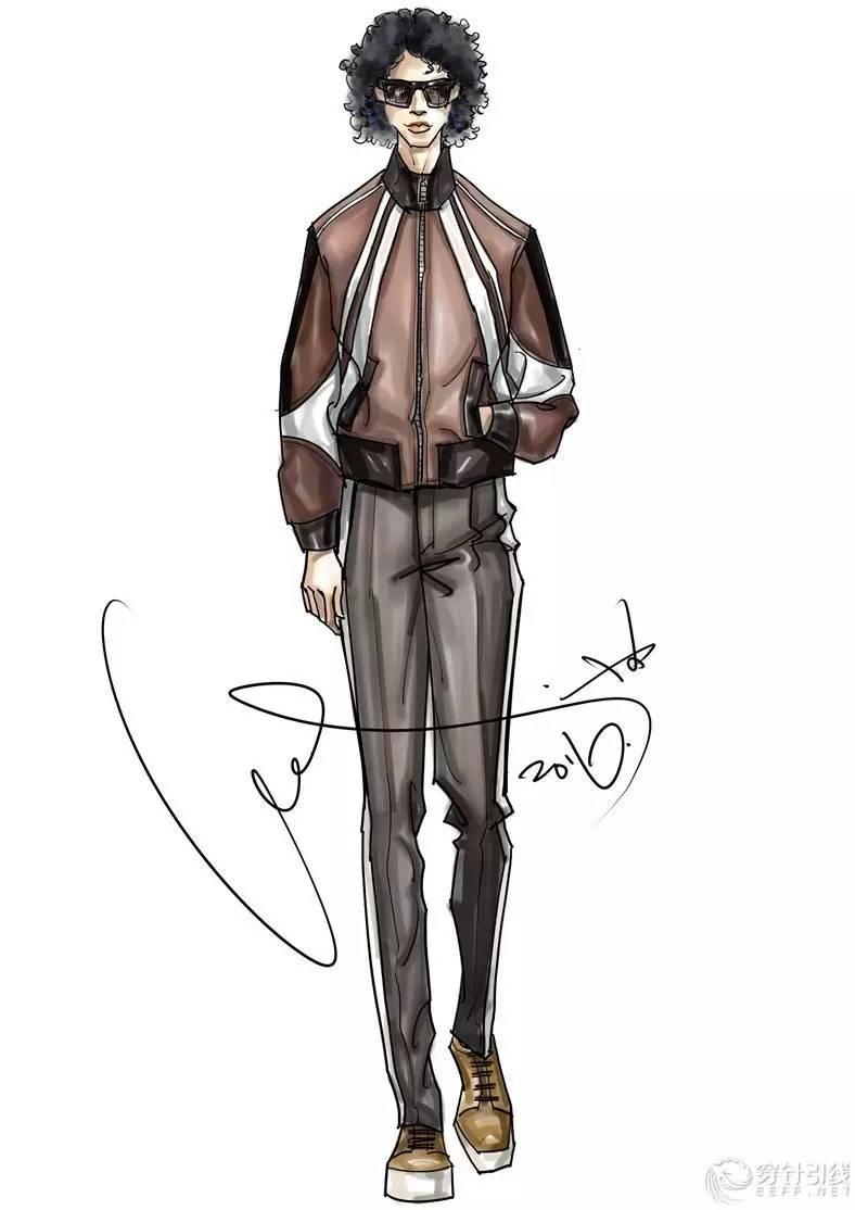 时尚手绘 | 大鸽2017趋势时装画手绘男装