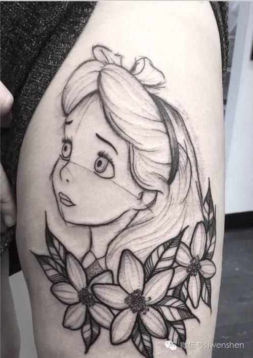 最可爱的纹身图案,外国设计师创造出各种卡通公主纹身!