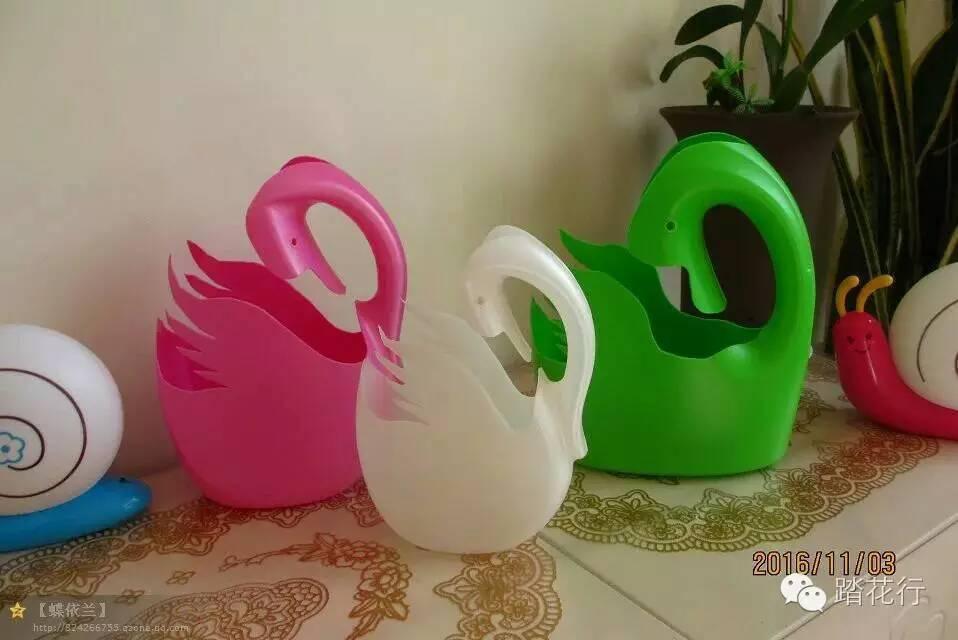 (手工)洗衣液瓶子之三只天鹅