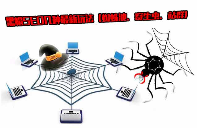 黑帽SEO的一些手段:蜘蛛池、寄生虫、站群