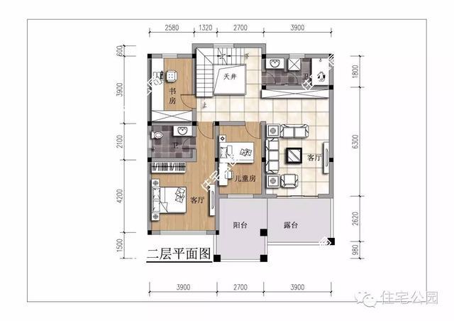 新农村自建12 10米三层小洋楼,带车库大露台
