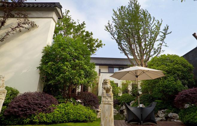 别墅私家庭院景观为什么首选中式设计风格图片