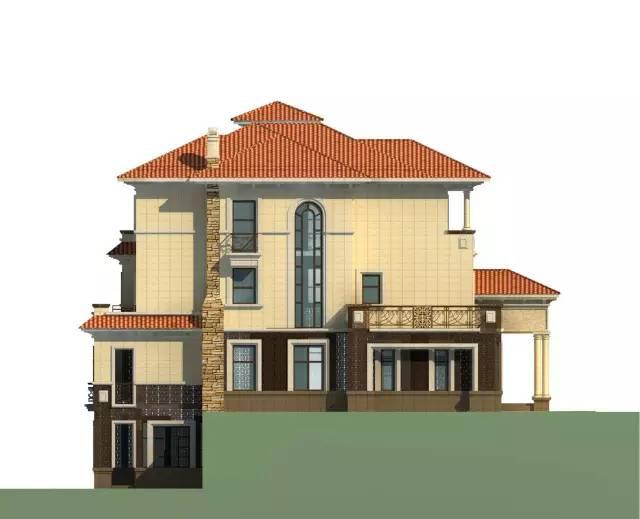 自建经典豪华欧式别墅12.5×19.7米图纸分享