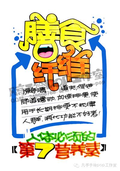 健康 手绘pop海报