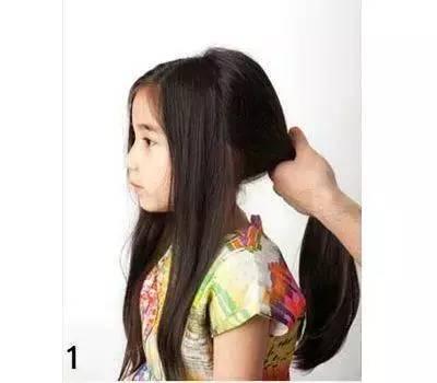 教你漂亮长发小女孩编头发,孩子100%喜欢!图片