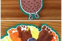 手工绿树叶粘贴画图片-18种感恩节火鸡大PK,还在等什么,赶快围观吧