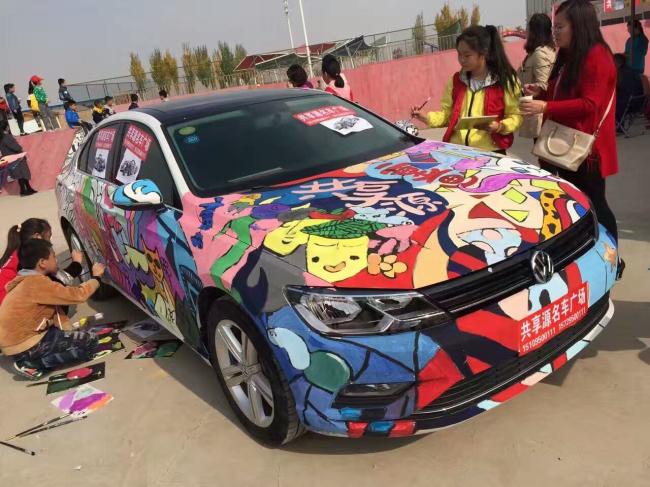 夏首届轮胎创意涂鸦大赛汽车彩绘 (600x449)-车迷的作品 将汽车高清图片