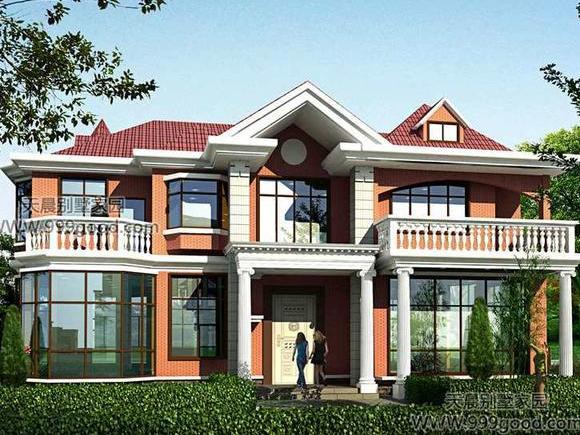 农村自建别墅设计图,两层半也可以大气!-两层别墅设计图纸赏析图片
