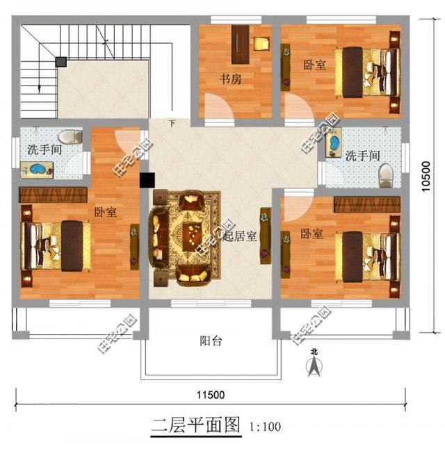 经典农村别墅11x10米 加强版来了 含平面图