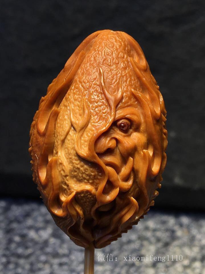 橄榄核串,就是应该纯手工雕刻图片