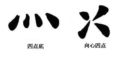 下面四个点是什么字_写字,书法,及用笔详解,初学者值得收藏