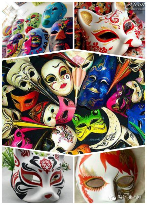 你精心准备了手绘面具活动,小朋友按照自己的喜好,涂上鲜艳夸张的色彩