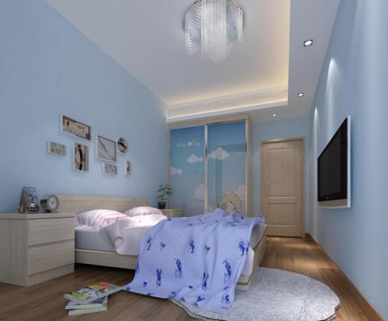 3款感觉蓝色装修设计效果图给您拥抱大自然的卧室v感觉长图ps图片