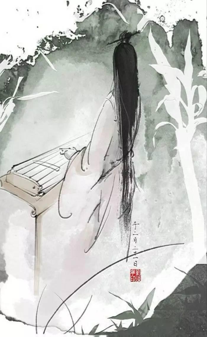 古风人物线稿素描