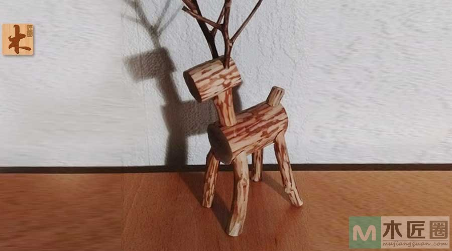 diy木工教学 ,手工制作木头小鹿
