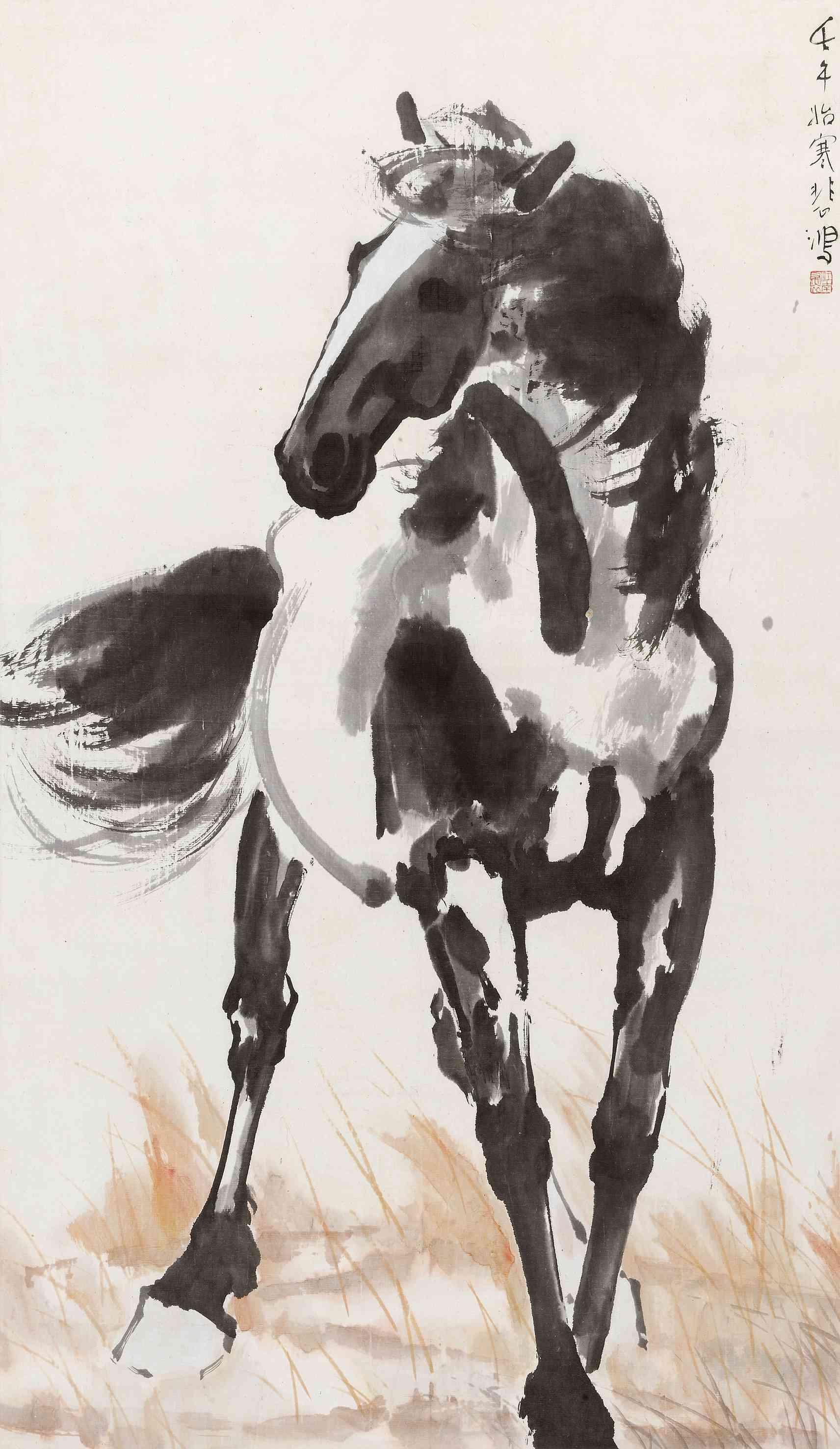 徐悲鸿画的马为啥都是黑马,真迹这样鉴定图片