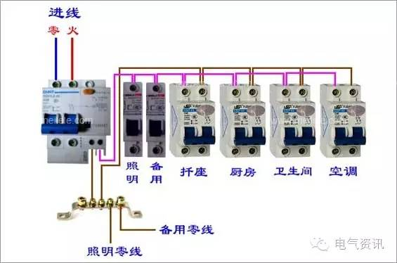漏电保护开关接线图 原理 规格 漏电保护开关详解