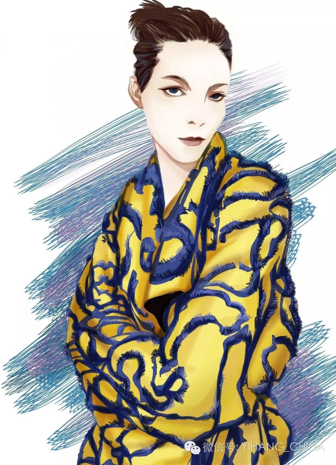 手绘彩铅服饰图片