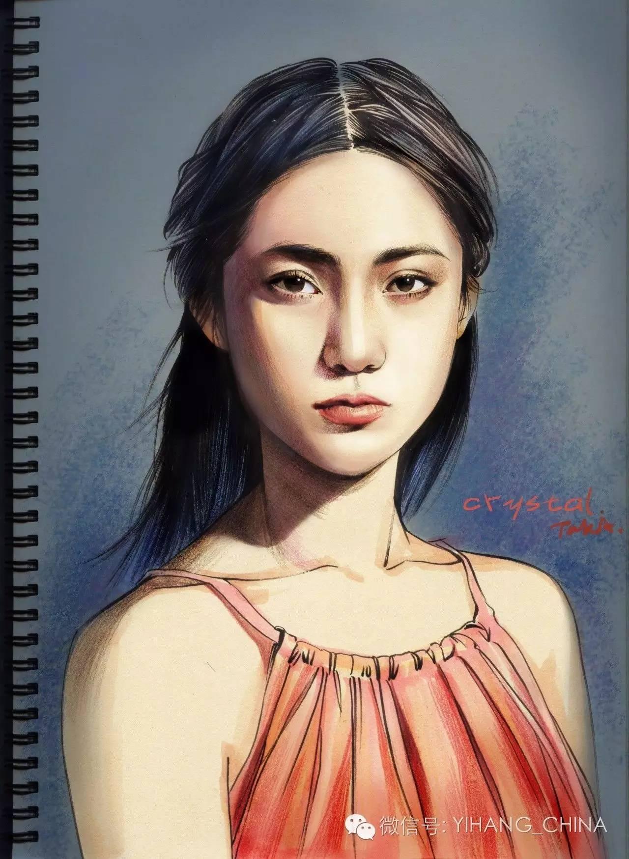 彩铅民族古装手绘