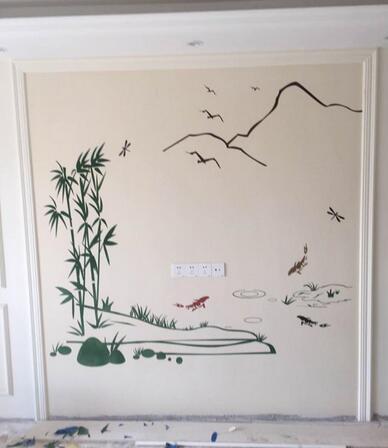电视墙手绘图