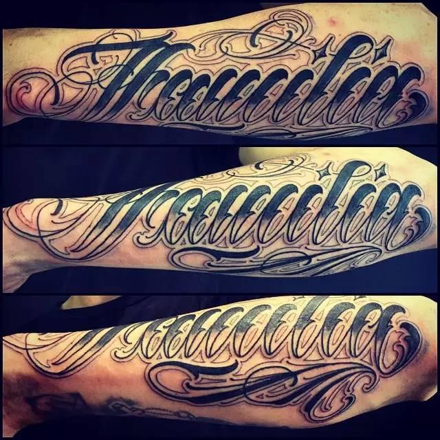 纹身花体字手稿内容图片分享