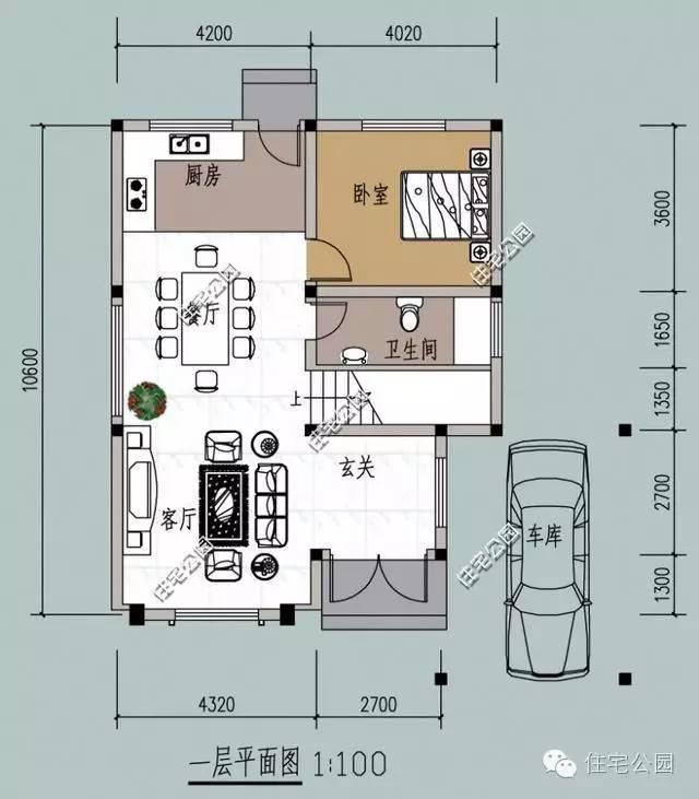新农村自建房 8米X10米含平面图 卫生间放哪好