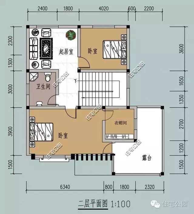 新农村自建房 8米X10米含平面图 卫生间放哪好图片