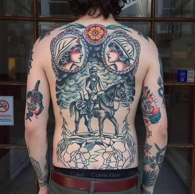纹身素材——背部刺青!