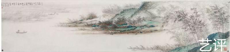 王飞涯《青绿山水长卷》图片