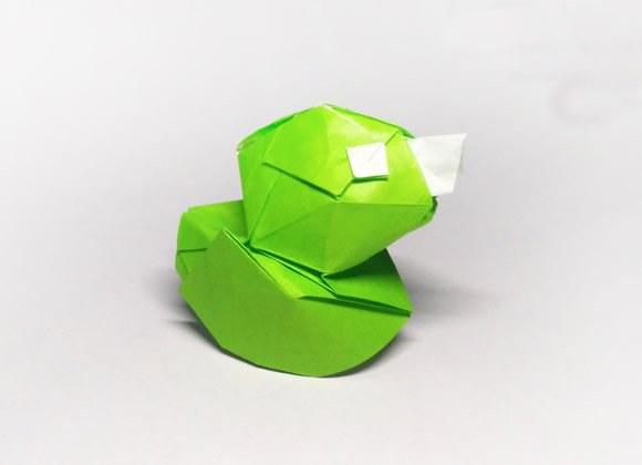 立体小鸭子折纸步骤图 纸鸭子的折法教程图解