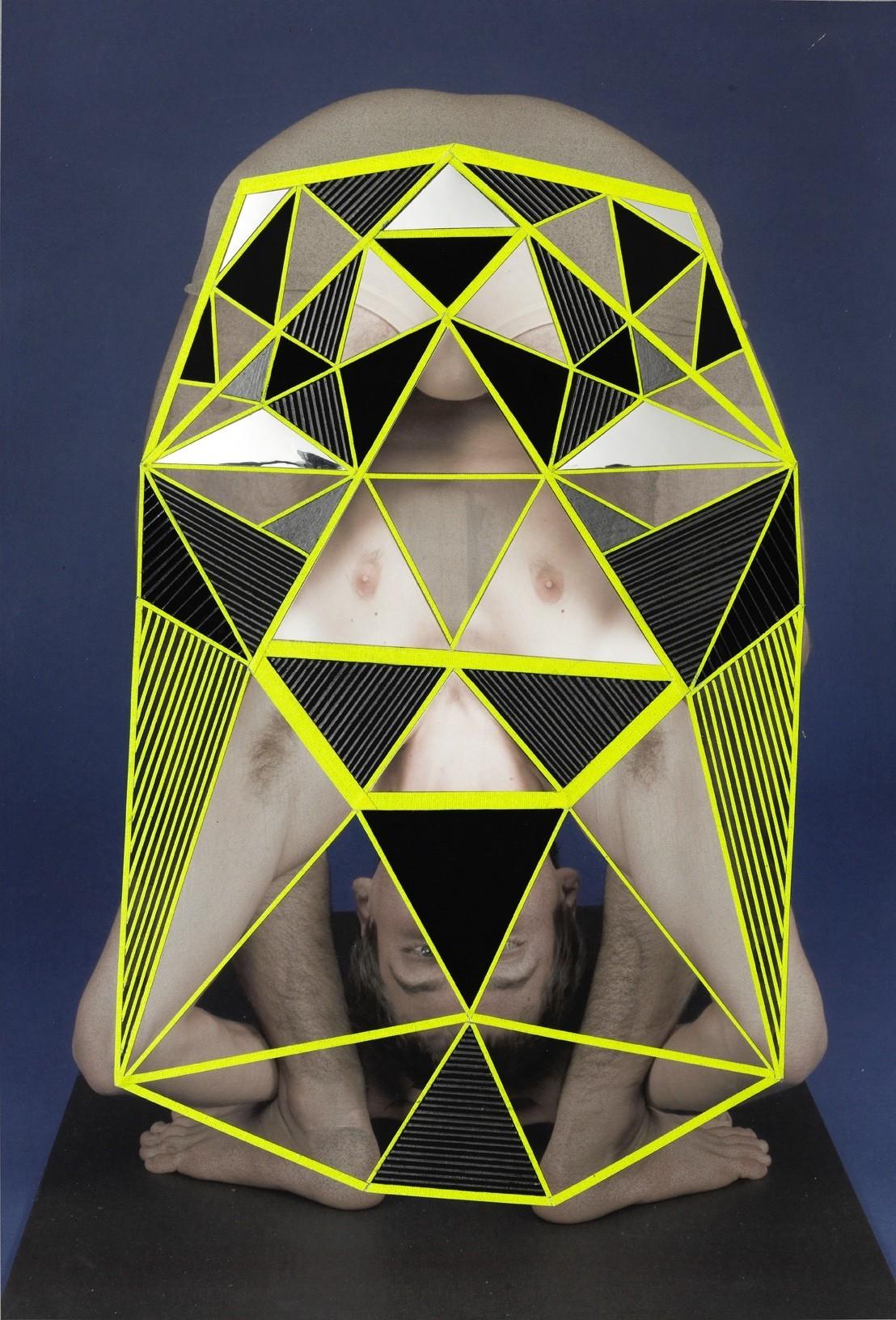 水粉几何图形抽象画