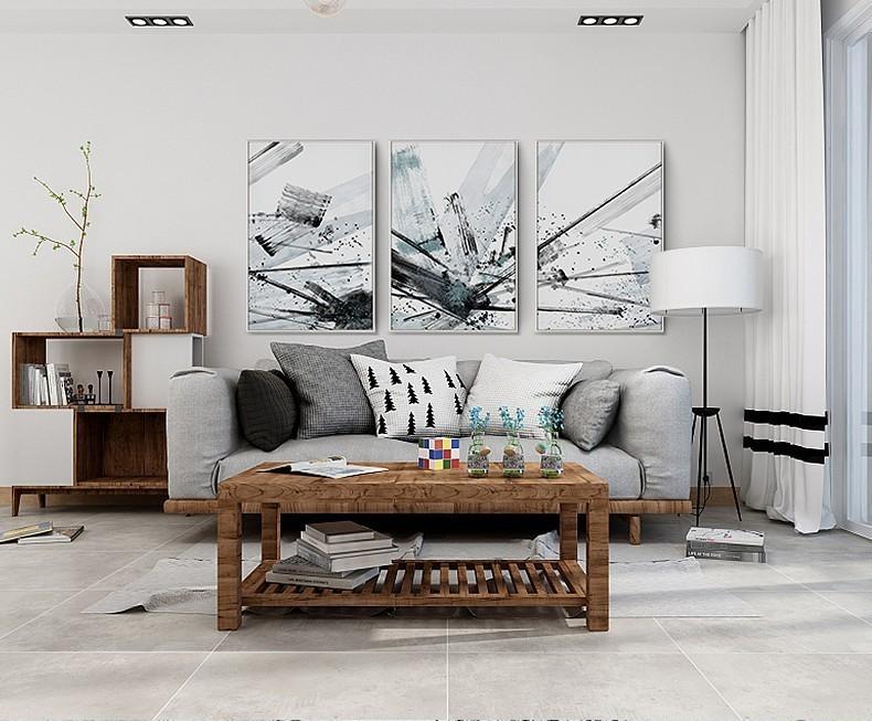 室内手绘地毯黑白