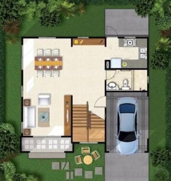 农村别墅10*9平面图样式户型分享