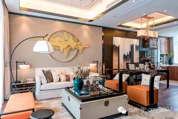 100平新中式三居室精装修效果图 美如春梦