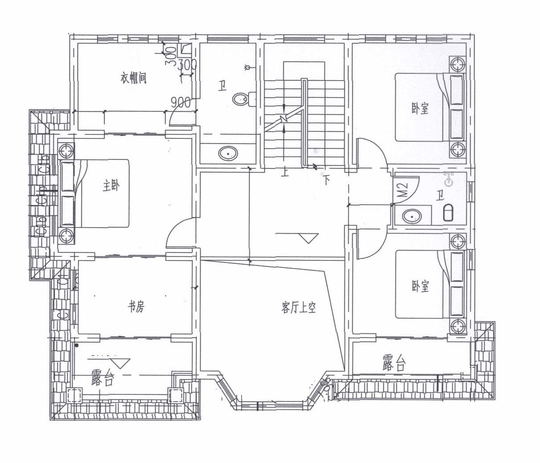 两层别墅设计图 二层欧式楼房复式别墅施工图纸图片