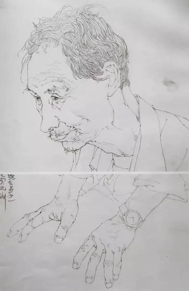 线描人物速写 写生作品欣赏