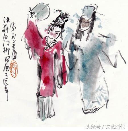 段昭南戏画一百出台湾京剧开幕 洪秀柱为展览剪彩