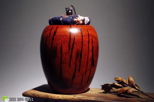 手工制作美轮美奂 小叶紫檀「藏式茶叶罐」