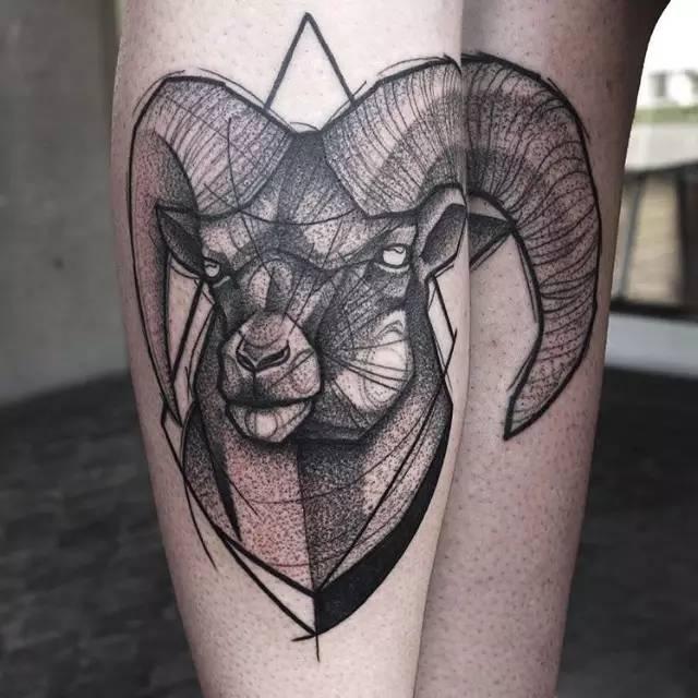 十二星座之——摩羯座纹身