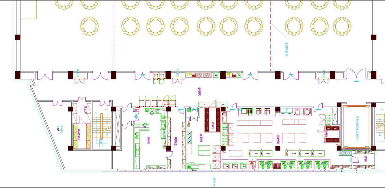 酒店厨房设计平面图解析—一厨一帮
